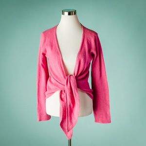 Soft Surroundings S Pink Cashmere Cardigan Sweater